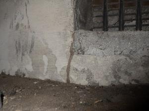 床下換気口に形成された蟻道