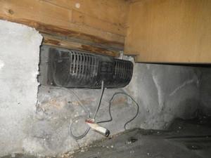 必要性の低い床下換気扇