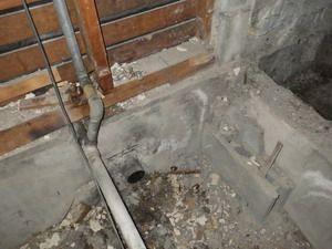 シロアリ被害が確認されていた浴室周辺