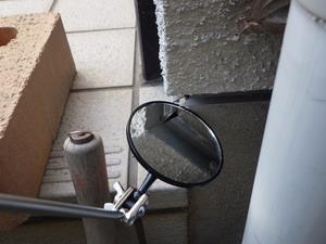 外壁側隙間の反射鏡調査
